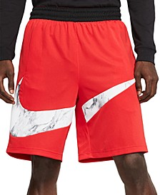 Men's Dri-FIT Printed-Logo Basketball Shorts