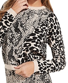 Tamelia Animal-Print Pullover Sweater