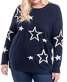 Plus Size Star-Print Sweater