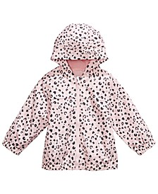 Baby Girls Hooded Animal-Print Rain Coat, Created for Macy's
