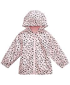 Baby Girls Hooded Animal-Print Rain Coat, Created for Macy's