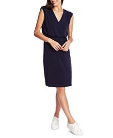 Cinched V-Neck Dress