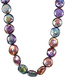 """Cultured Coin Multi Freshwater Pearl (14-19mm) 36"""" Strand Necklace"""