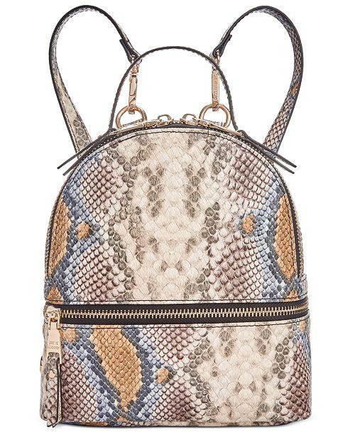 Steve Madden Trixie Snake Embossed Convertible Backpack