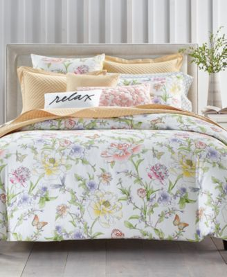Blossom Cotton 300-Thread Count 2-Pc. Twin Duvet Cover Set, Created for Macy's