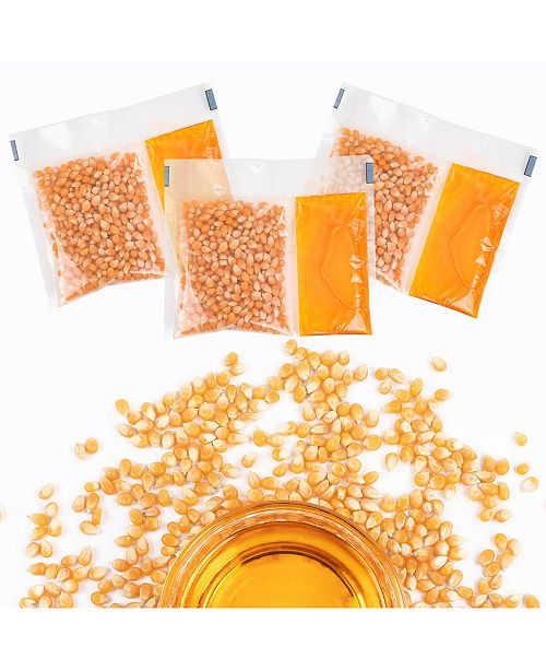 Nostalgia KPP824 Premium Popcorn, Oil & Seasoning Kit, 8-oz. Packets, 24-Count