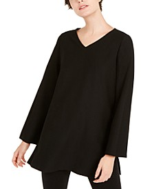 V-Neck Side-Slit Tunic