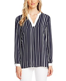 Striped Split-Neck Tunic