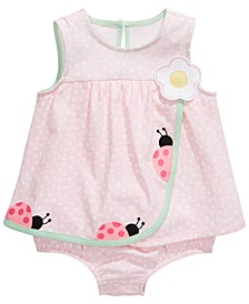 Baby Girls Cotton Ladybug Sunsuit, Created For Macy's