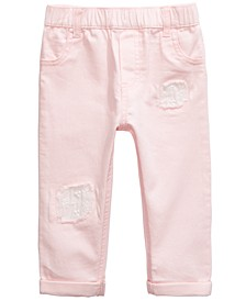 Baby Girls Cotton Eyelet-Patch Jeans, Created for Macy's