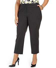 Kasper Plus Size Elastic-Back Pants
