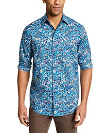 Men's Stretch Paisley Print Shirt, Created for Macy's