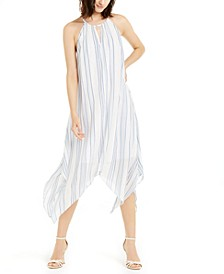 INC Metallic Striped Midi Dress, Created for Macy's