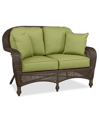 Monterey Wicker Outdoor Loveseat Custom Colors Furniture Macy 39 S