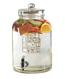 Brington Beverage Dispenser with Ice Insert and Fruit Infuser, 2.6 Gal