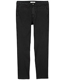 Men's Regular-Straight Fit Pima Cotton Chino Pants