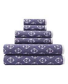 Foulard Ditsy 6-Pc. Towel Set