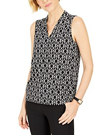Diamond-Print Sleeveless Top