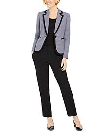 Plaid Pants Suit