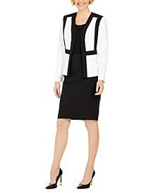 Kiss-Front Skirt Suit