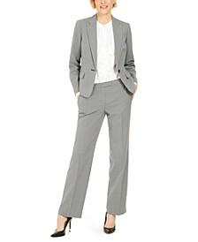 Micro-Print Pants Suit