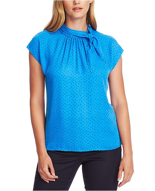 Vince Camuto Tie-Neck Extended-Shoulder Top