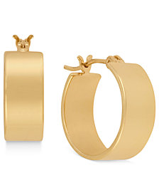 Kenneth Cole New York Earrings, Gold-Tone Small Hoop Earrings