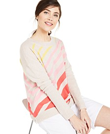 Cashmere Diagonal-Striped Sweater, Created for Macy's