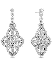 Diamond (1/2 ct. t.w.) Vintage Earrings in Sterling Silver