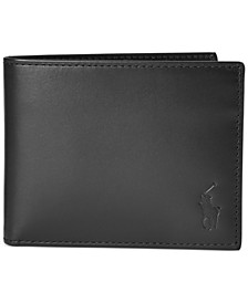 Men's Burnished Leather Passcase Wallet