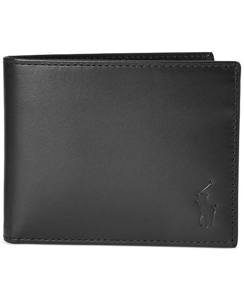 Polo Ralph Lauren Men's Burnished Leather Passcase Wallet