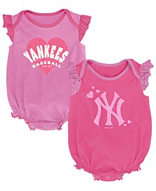 Baby New York Yankees Pink Double Trouble Bodysuit Set