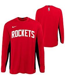 Big Boys Houston Rockets Long Sleeve Shooter T-Shirt