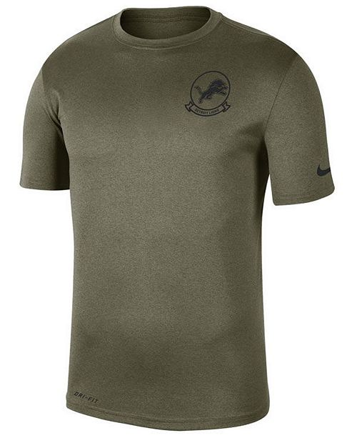Nike Men's Detroit Lions Salute To Service Seal T-Shirt