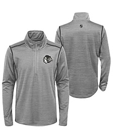 Big Boys Chicago Blackhawks Benchmark Quarter-Zip Top