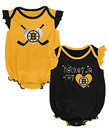Baby Boston Bruins Team Player 2 Pack Bodysuit Set