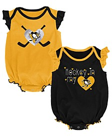 Baby Pittsburgh Penguins Team Player 2 Pack Bodysuit Set