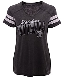 Women's Oakland Raiders Slanted Pride T-Shirt