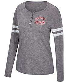 Women's Oklahoma Sooners Henley Long Sleeve T-Shirt