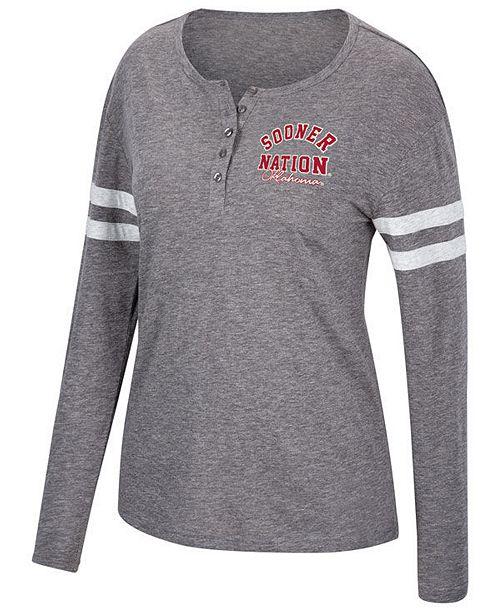 Top of the World Women's Oklahoma Sooners Henley Long Sleeve T-Shirt