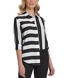 Mixed-Stripe Blouse