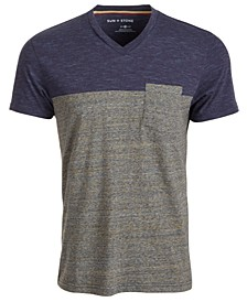 SUN + STONE Men's Aiden Pieced Patch Pocket T-Shirt, Created For Macy's