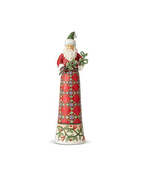 Enesco Tall Santa with Branch