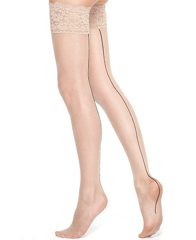 Berkshire Sheer Back Seam Thigh Highs Hosiery 1325