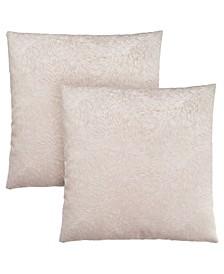 Feathered Velvet Pillow, Set of 2