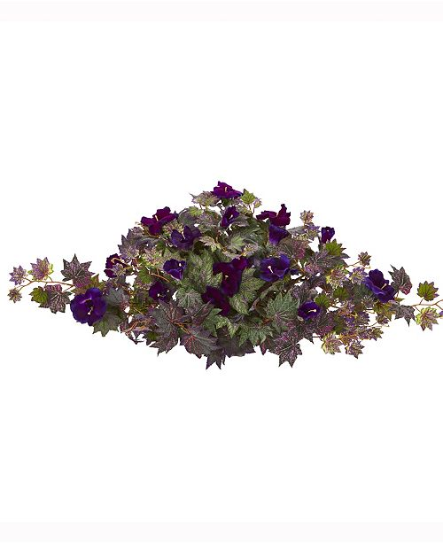 Nearly Natural 34in. Gloxinia Artificial Ledge Plant