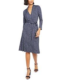 Tie-Waist Jersey Dress
