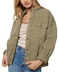 Juniors' Mable Quilted Jacket