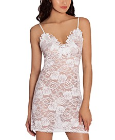 Embroidered Stretch Lace Chemise Nightgown
