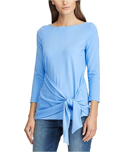 Lauren Ralph Lauren 3/4-Sleeve Wrap Top